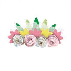 4 bandeaux fleurs et tulle beaux chevaux | jourdefete.com