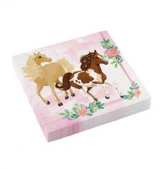 20 serviettes en papier beaux chevaux | jourdefete.com