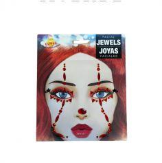 bijoux adhesifs visage halloween | jourdefete.com