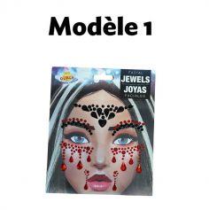 Bijoux Adhésifs Visage - Modèle au choix