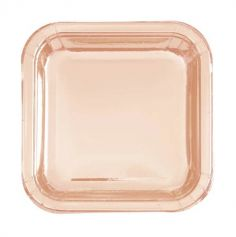 assiette-carree-rose-gold|jourdefete.com