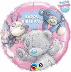 "Ballon Hélium ""Happy Birthday"" Nounours - 46cm"
