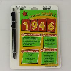 Bloc-notes et Stylo Année de naissance 1946