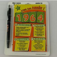 Bloc-notes et Stylo Année de naissance 1964