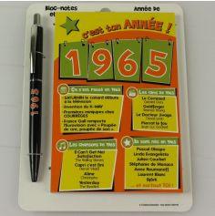 Bloc-notes et Stylo Année de naissance 1965