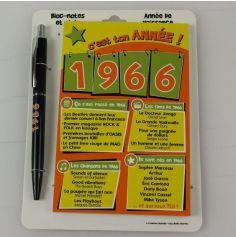 Bloc-notes et Stylo Année de naissance 1966