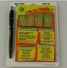 Bloc-notes et Stylo Année de naissance 1967