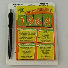Bloc-notes et Stylo Année de naissance 1968
