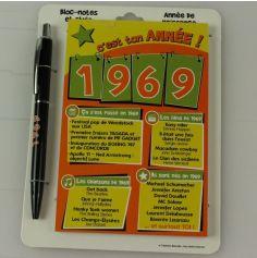 Bloc-notes et Stylo Année de naissance 1969