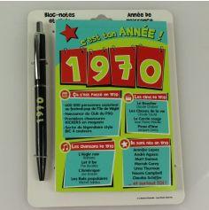 Bloc-notes et Stylo Année de naissance 1970