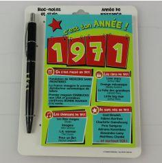 Bloc-notes et Stylo Année de naissance 1971