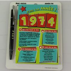 Bloc-notes et Stylo Année de naissance 1974