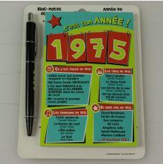 Bloc-notes et Stylo Année de naissance 1975