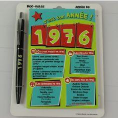 Bloc-notes et Stylo Année de naissance 1976