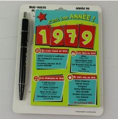 Bloc-notes et Stylo Année de naissance 1979