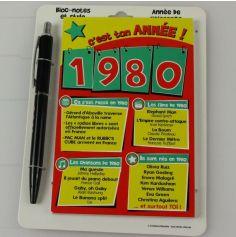 Bloc-notes et Stylo Année de naissance 1980