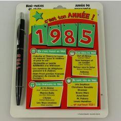 Bloc-notes et Stylo Année de naissance 1985