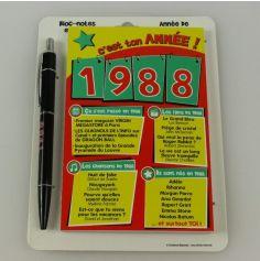 Bloc-notes et Stylo Année de naissance 1988