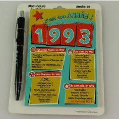 Bloc-notes et Stylo Année de naissance 1993
