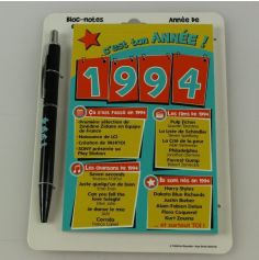 Bloc-notes et Stylo Année de naissance 1994