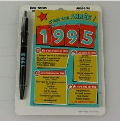 Bloc-notes et Stylo Année de naissance 1995