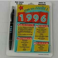 Bloc-notes et Stylo Année de naissance 1996