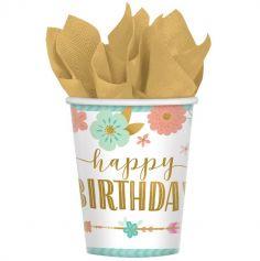 gobelets-carton-anniversaire-boho-boheme | jourdefete.com