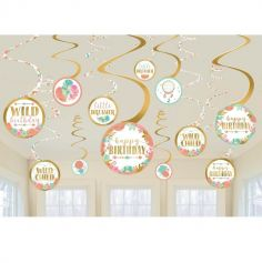 decoration-anniversaire-fille-boheme-fleurs | jourdefete.com