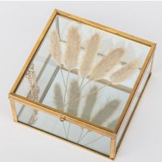 Boîte de fleurs séchées - Verre et Or