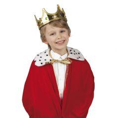 Couronne Roi Or et Fausses Pierres Enfant