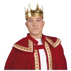 Couronne Roi Or et Fausses Pierres