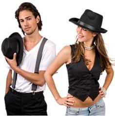 chapeau noir mafia