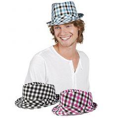 chapeau borsalino carreaux