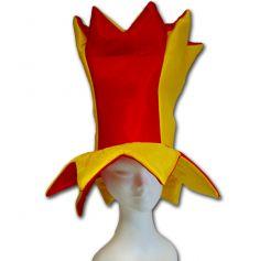 Chapeau de Bouffon Jaune et Rouge