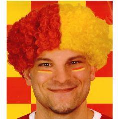 Perruque clown rouge et jaune