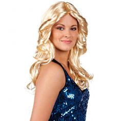 Perruque blonde cheveux longs dance floor