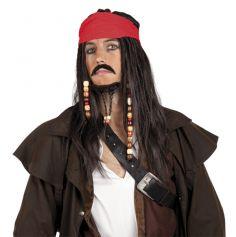 Perruque Pirate des Caraïbes Homme