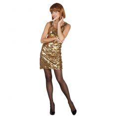 Déguisement Disco Sequin Or et Argent Femme