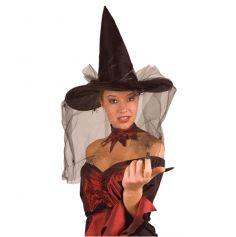 chapeau de sorcière original avec voile