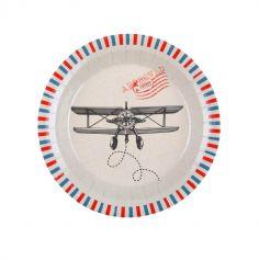10 assiettes en carton collection bon voyage | jourdefete.com