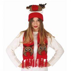 Vaorwne Chapeau en Coton de Noel de Nouvel an Chapeau de Pere Noel pour la Decoration des Adultes et Enfants pour la Fete de Noel Elk