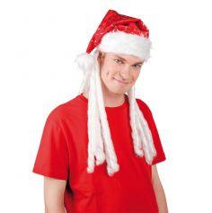 Bonnet de Noël Rasta Rouge et Blanc