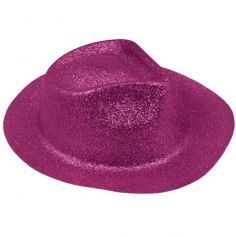 chapeau borsalino de déguisement rose fushia