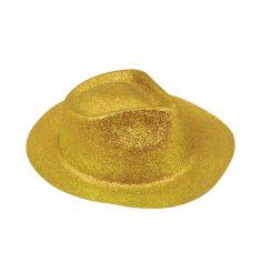 Chapeau Borsalino à paillettes - Doré
