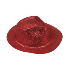 Chapeau Borsalino à paillettes - Rouge