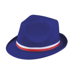Chapeau Borsalino Bleu - Ruban Tricolore France
