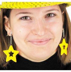 boucles d'oreilles étoiles néon pour adulte | jourdefete.com
