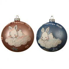 premier-noel-boule-sapin-decoration-bebe-lapin | jourdefete.com