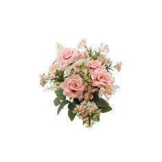 Bouquet de 5 Roses avec feuillage couleur au choix | jourdefete.com