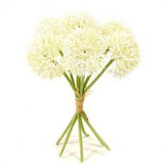 bouquet-tete-ail-raffia-blanc|jourdefete.com